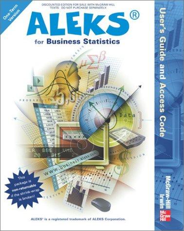 9780072857788: Aleks for Business Statistics Users Gde