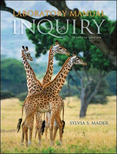 Lab Manual t/a Inquiry Into Life: Sylvia S. Mader