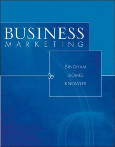 9780072859119: Business Marketing