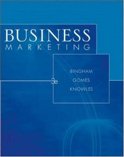 9780072859119: Business Marketing
