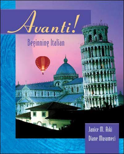 9780072859836: Avanti: Beginning Italian