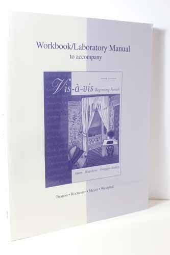 9780072860221: Workbook/Lab Manual to accompany Vis-a-vis: Beginning French