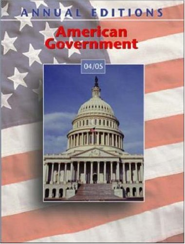 9780072861419: Annual Editions: American Government 04/05 (Annual Editions)