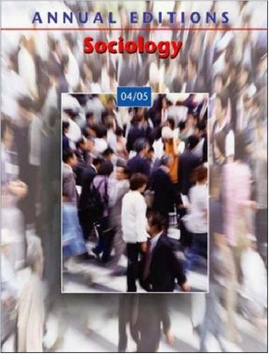 9780072861556: Annual Editions: Sociology 04/05