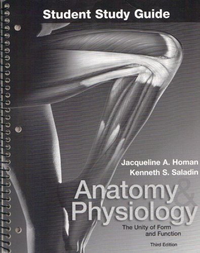 9780072862249: Student Study Guide to accompany Anatomy and Physiology:  The Unity of Form and Function