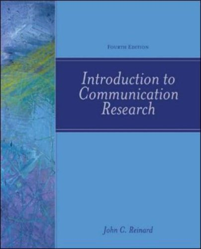 9780072862959: Introduction to Communication Research, 4th Edition