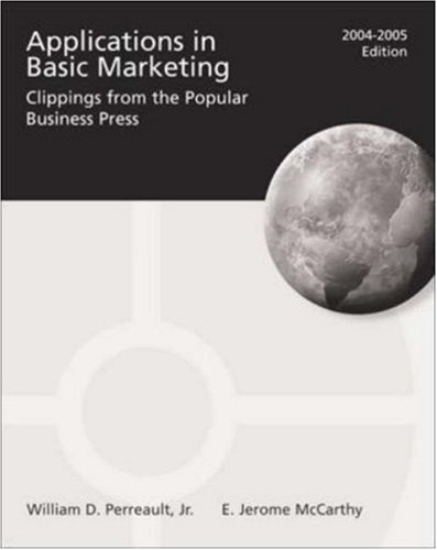 9780072864700: Applications in Basic Marketing 2004-2005