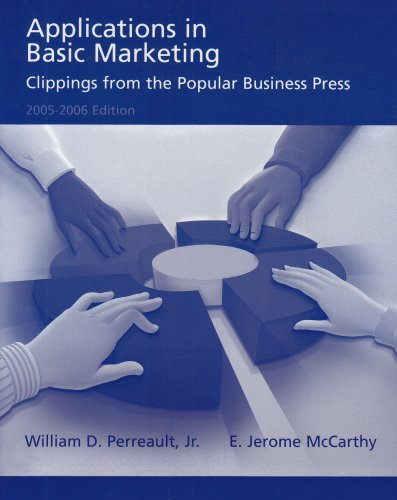 9780072864717: Applications in Basic Marketing: Clippings From the Popular Business Press 2005-2006 Edition