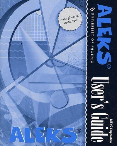 9780072864953: Aleks User's Guide - University of Phoenix