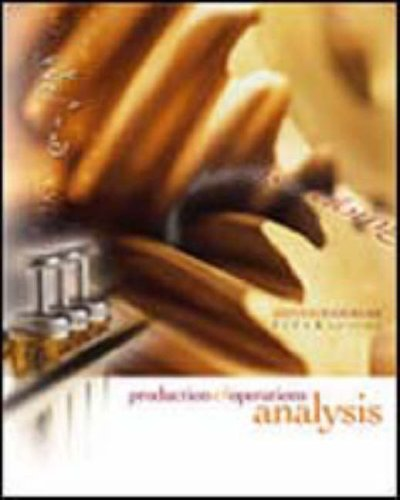 9780072865387: Production and Operations Analysis