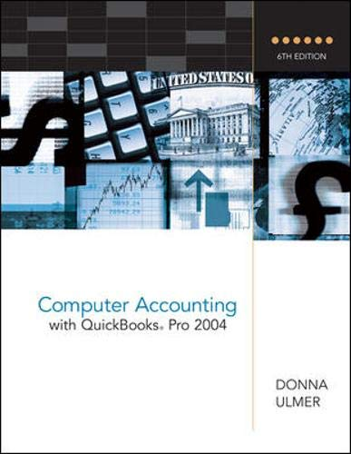 9780072865530: Computer Accounting with QuickBooks Pro 2004