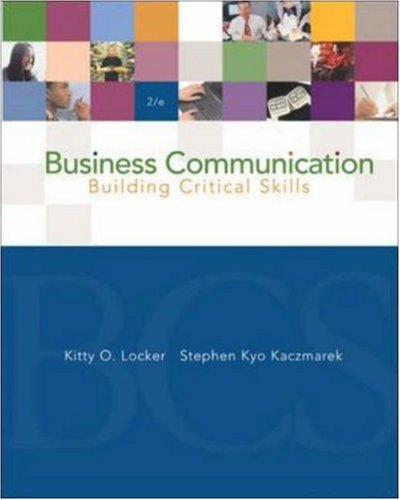9780072865714: Business Communication: Building Critical Skills with PowerWeb and BComm Skill Booster