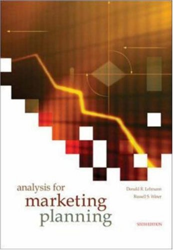 Analysis for Marketing Planning: Donald Lehmann, Russell