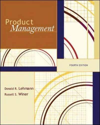 Product Management: Donald R. Lehmann;