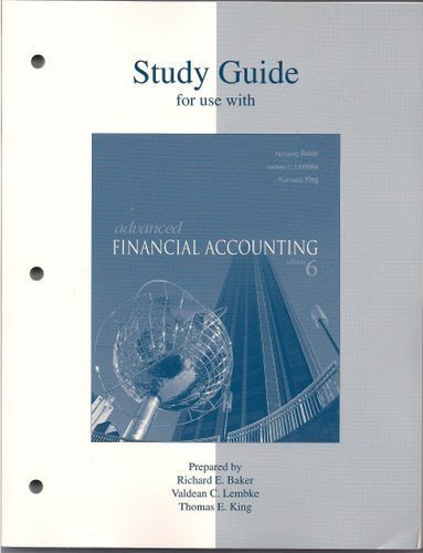 9780072866346: Study Guide t/a Advanced Financial Accounting