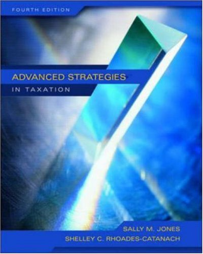 9780072866544: Advanced Strategies in Taxation, Fourth Edition