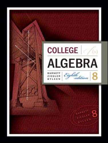 College Algebra: Barnett, Raymond A.;