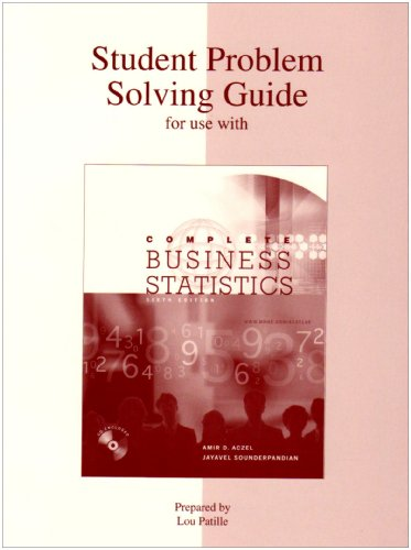 9780072868869: Student Problem Solving Guide to accompany Complete Business Statistics