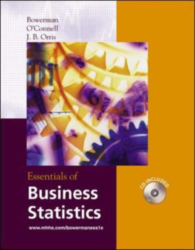 9780072869248: Essentials of Business Statistics with Student CD-ROM (McGraw-Hill/Irwin Series Operations and Decision Sciences)