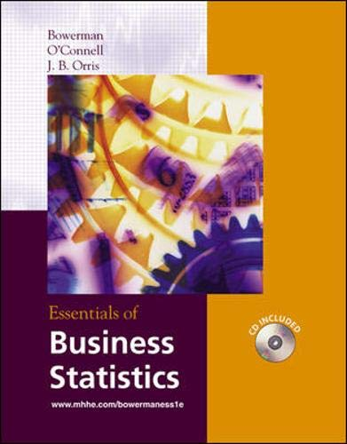 9780072869248: Essentials of Business Statistics with Student CD-ROM