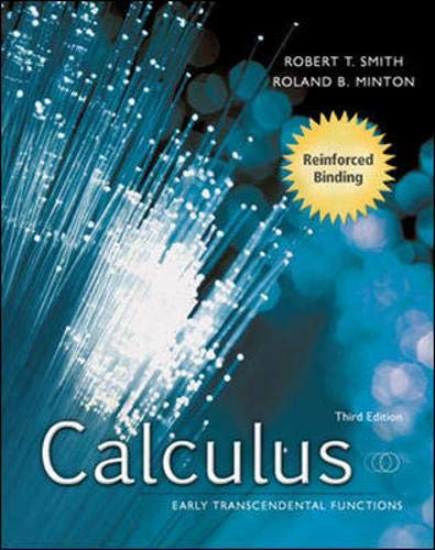 Student's Solutions Manual to accompany Calculus: Early: Robert T Smith,