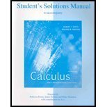 Student's Solutions Manual to accompany Calculus, Multivariable: Robert T Smith,