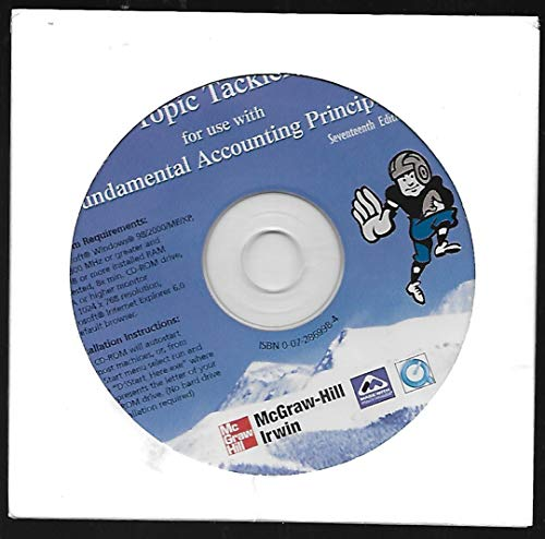 9780072869989: Principles of Financial Accounting Topic Tackler (Software Only)