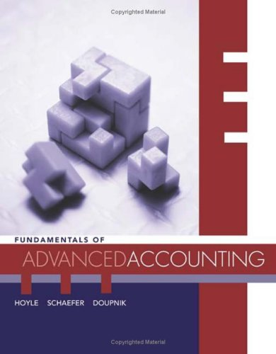 9780072871173: Fundamentals of Advanced Accounting