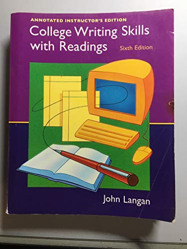 9780072871364: College Writing Skills with Readings: Annotated Instructor's Edition