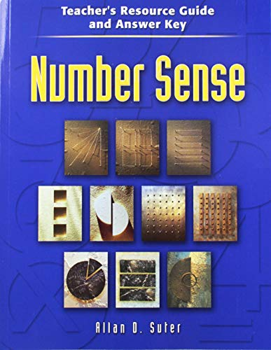 9780072871432: Number Sense, Teacher´s Resource Guide/Answer Key