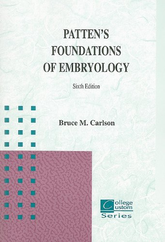 9780072871708: Patten's Foundations of Embryology (College Custom)
