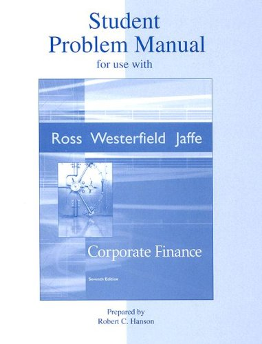 9780072871913: Student Problem Manual to accompany Corporate Finance