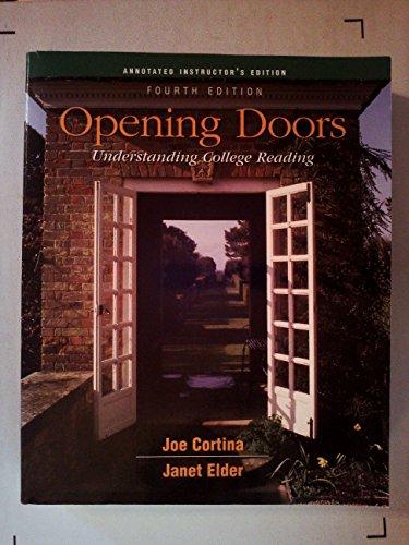 9780072871975: Opening Doors: Understanding College Reading