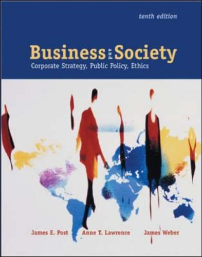9780072872279: Business and Society: With PowerWeb and Enron Case: Corporate Strategy, Public Policy, and Ethics