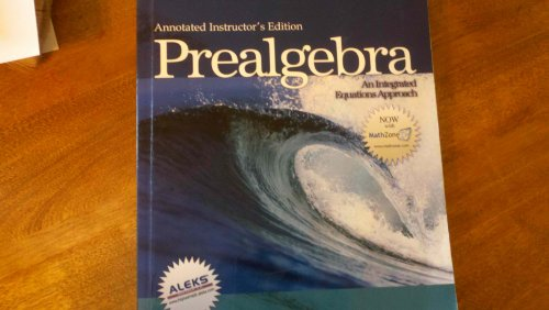 9780072872637: Instructor's Annotated Edition: Prealgebra: An Integrated Equations Approach (Streeter Series in Mathematics)