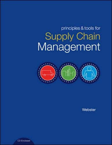 9780072872682: Principles and Tools for Supply Chain Management with Student CD-ROM