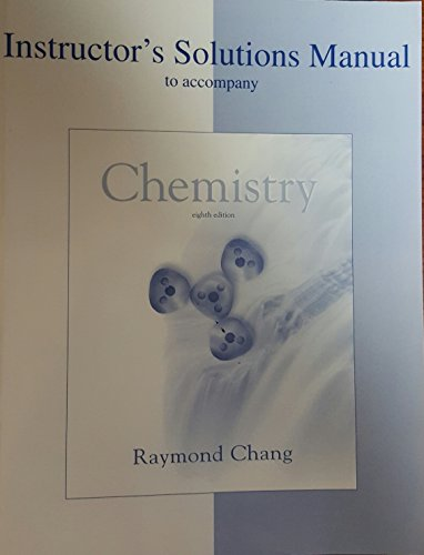 9780072872835: Instructor's Solutions Manual to Accompany Chemistry