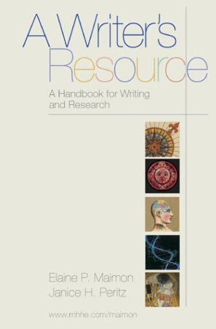 9780072873450: A Writer's Resource CD-ROM version 2.0