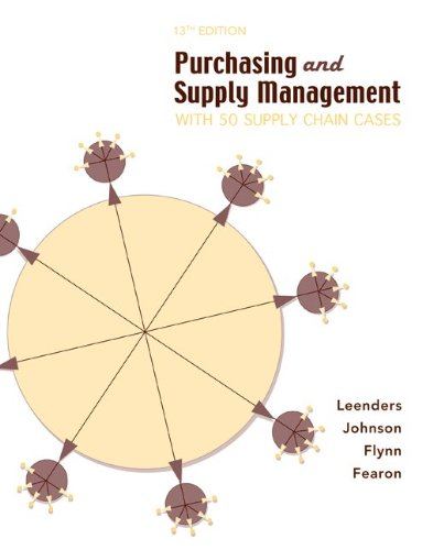 9780072873795: Purchasing Supply Management: With 50 Supply Chain Cases