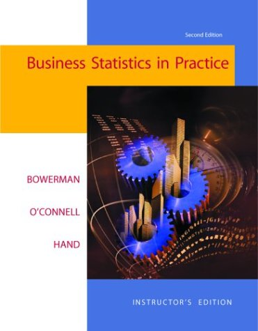 9780072874150: Business Statistics in Practice W/ Student CD and PowerWeb