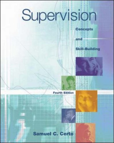 9780072874242: Supervision: Concepts and Skill-Building with Management Skill Booster Passcard