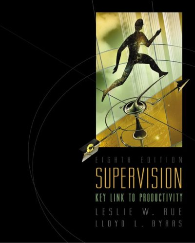 Supervision: Key Link to Productivity with Management: Leslie W. Rue,