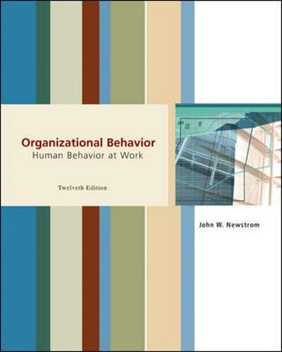 9780072875461: Organizational Behavior: Human Behavior at Work