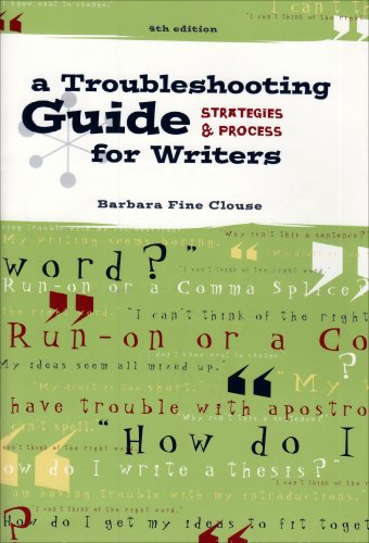 9780072876895: A Troubleshooting Guide for Writers: Strategies and Process
