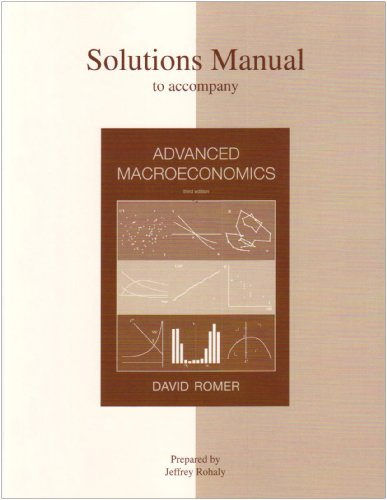 9780072877311: Solution Manual to Advanced Microeconomics