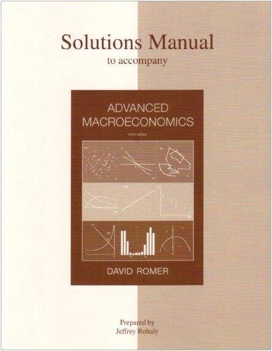 9780072877311: Solutions Manual to accompany Advanced Macroeconomics