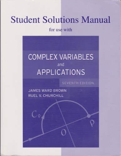 9780072878349: Student Solutions Manual to accompany Complex Variables and Applications