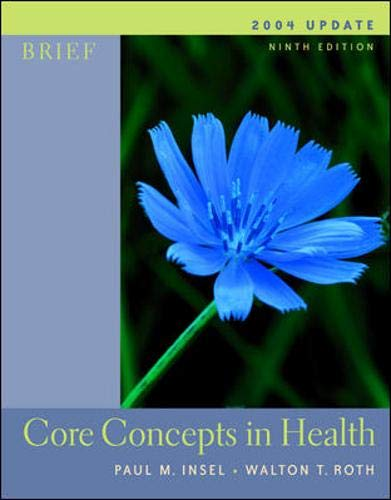 9780072878608: Core Concepts In Health Brief with PowerWeb 2004 Update with HealthQuest CD-Rom, Learning to Go: Health and Powerweb/OLC Bind-in Cards