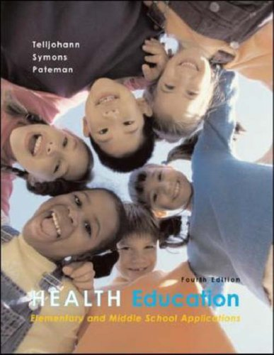 9780072878677: Health Education: Elementary and Middle School Applications with PowerWeb Bind-in Passcard