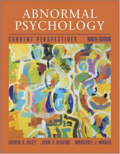 Abnormal Psychology with MindMAP Plus CD-ROM and: Alloy, Lauren B.;
